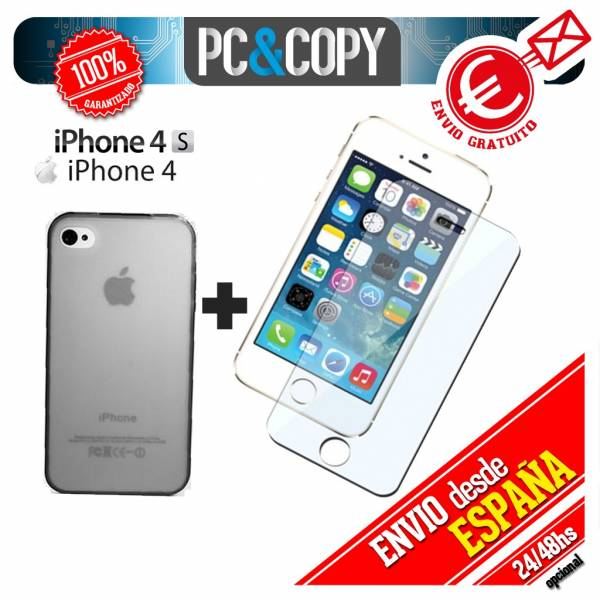 Funda-gel-TPU-flexible-transparente-para-iphone-4-4S-Ultra-thin-cover-Toallitas