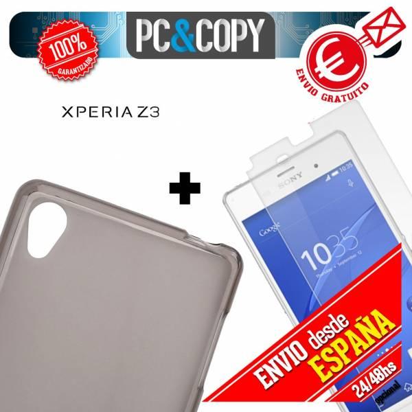 Funda-gel-TPU-flexible-SONY-Xperia-Z3-D6603-D6616-D6633-L55t-L55u-o-toallitas