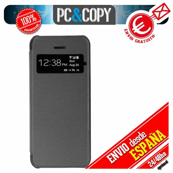 FUNDA-LIBRO-TAPA-CON-VENTANA-IPHONE-4-4S-FLIP-COVER-BOOK-COLOR-TEMPLADO-TOALLITA