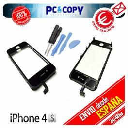 PANTALLA TACTIL IPHONE 4 4G MARCO DIGITALIZADOR CRISTAL LCD NEGRO + HERAMIENTAS