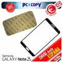 CRISTAL PANTALLA TACTIL SAMSUNG GALAXY NOTE 3 N9005 NEGRO CON ADHESIVO NOTE III