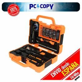 Maleta herramientas precisión reparación móviles, portátiles, consolas, tablets.