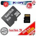 Pack 2 Tarjeta memoria microSD 8GB clase 4 Micro SD 8 GB class 4 sanDisk ORIGINAL