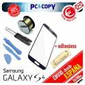 Pack cristal Samsung Galaxy S4 negro + adhesivo, hilo molibdeno y herramientas