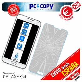 Cristal templado protector pantalla Samsung Galaxy S5 calidad Premium 0,3mm 9H
