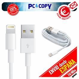 Cable datos y carga para iPhone 5 5S 5C 6 Plus iPad Air Mini iPod 7 1M iOS 7 y 8