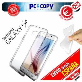 Funda gel TPU flexible 100% transparente para SAMSUNG Galaxy S6