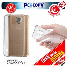 Funda gel TPU flexible 100% transparente para SAMSUNG Galaxy S5