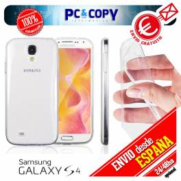 Funda gel TPU flexible 100% transparente para SAMSUNG Galaxy S4