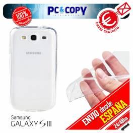 Funda gel TPU flexible 100% transparente para SAMSUNG Galaxy S3