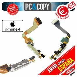 CABLE FLEX DOCK CONECTOR DATOS IPHONE 4 4G BLANCO CARGA MICROFONO RECAMBIO IPHONE4 USB