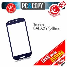 CRISTAL DE PANTALLA TACTIL PARA SAMSUNG GALAXY S3 Mini i8190 TOUCH SCREEN LCD AZUL