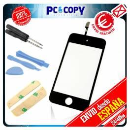 Pantalla Tactil iPod 4 4G GEN NEGRA DIGITALIZADOR TOUCH + ADHESIVO Y HERRAMIENTAS