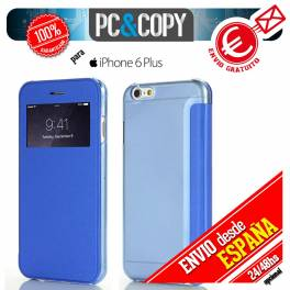FUNDA LIBRO TAPA DURA CON VENTANA IPHONE 6 PLUS FLIP COVER BOOK CASE COLORES