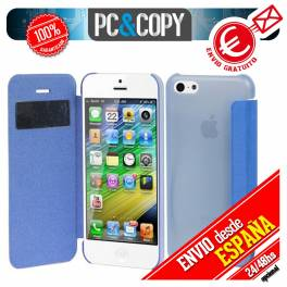 FUNDA LIBRO TAPA DURA CON VENTANA IPHONE 5S 5 FLIP COVER BOOK CASE COLORES