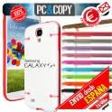 Funda hibrida TPU transparente marco PC colores para Galaxy S4 GT-I9500-GT-I9505