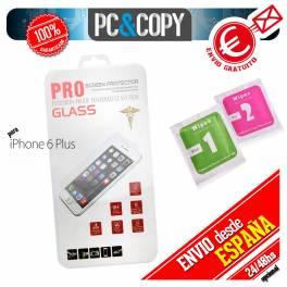 Protector cristal templado iPhone 6 plus calidad PREMIUM 2.5D blister +toallitas