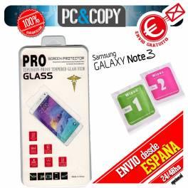 Protector cristal templado para Galaxy Note 3 PREMIUM 2.5D blister+toallitas