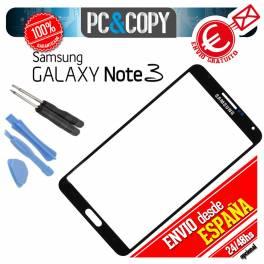 CRISTAL PANTALLA TACTIL SAMSUNG GALAXY NOTE 3 N9005 NEGRO+HERRAMIENTAS NOTE III
