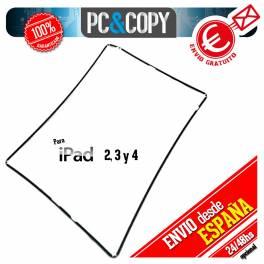 Marco lateral plástico blanco iPad 2 negro Repuesto fijación pantalla ipad2