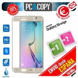 Cristal templado curvo protector pantalla Samsung Galaxy S6 edge 9H A+ SM-G925F