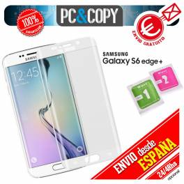 Cristal templado curvo blanco completo Samsung Galaxy S6 edge + PLUS 3D SM-G928F