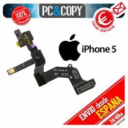 Flex cable camara frontal delantera sensor luz+proximidad+micro iphone 5 nuevo