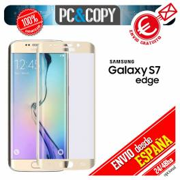 Cristal templado CURVO plata pantalla Samsung Galaxy S7 edge 9H 3D SM-G935F A++
