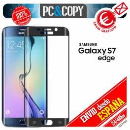 Cristal templado CURVO negro pantalla Samsung Galaxy S7 edge 9H 3D SM-G935F A++