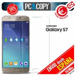 Cristal templado CURVO transparente pantalla Samsung Galaxy S7 9H 3D SM-G930F A+