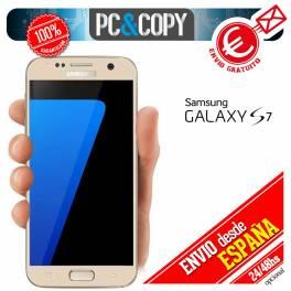 Cristal templado protector pantalla CURVO completo dorado Galaxy S7 G930F