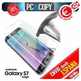 Cristal templado CURVO transparente pantalla Samsung Galaxy S7 edge 9H 3D G935F