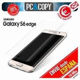 Cristal templado curvo completo transparente para Samsung Galaxy S6 edge 9H 3D SM-G925F