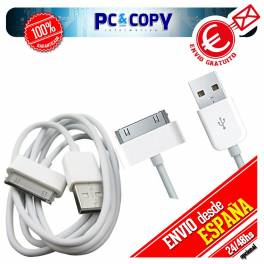 Cable datos y carga para iPhone 4S, 4, 3GS, 3G, iPod touch, iPad 2 1M calida A++