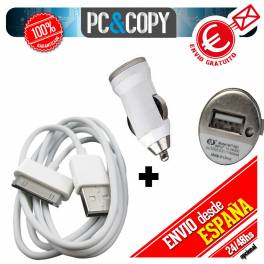 Cargador mechero coche USB 1A para movil tablet blanco car charger 12-24v 1000mA