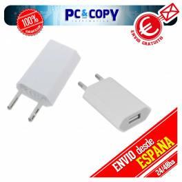 CARGADOR CORRIENTE USB RED DE PARED UNIVERSAL PARA MOVIL SMARTPHONE NEGRO 5V 1A