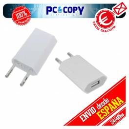CARGADOR CORRIENTE USB RED DE PARED UNIVERSAL PARA MOVIL SMARTPHONE NEGRO 5V 1A
