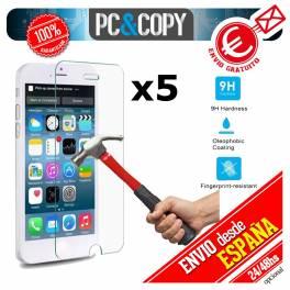 Pack 5 cristales templado Protector pantalla Para iphone 6 6S 4,7' Premium 9H