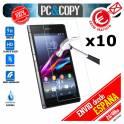Pack 10 cristal templado protector pantalla Sony Xperia Z1 C6902/L39h 0,3mm 9H