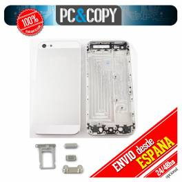 Tapa trasera para iPhone 5 blanco con botones metal housing chasis IPHONE5 white