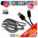 Pack 5 Cables micro USB-USB 2.0 datos/carga para moviles-tablets Android negro