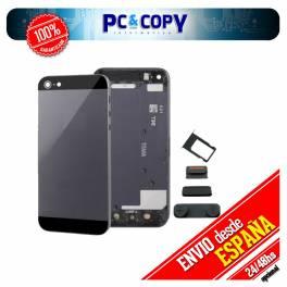 TAPA TRASERA PARA IPHONE 5 NEGRO CON BOTONES METAL HOUSING CHASIS IPHONE 5 BLACK
