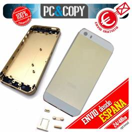 TAPA TRASERA IPHONE 5 DORADO CON BOTONES METAL HOUSING CHASIS IPHONE 5 GOLD
