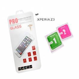 Protector cristal templado Sony Xperia Z3 calidad PREMIUM 2.5D blister+toallitas
