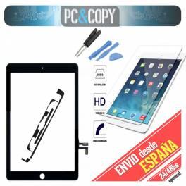 Pantalla tactil iPad Air negra touch screen+adhesivo+herramienta+cristal templado