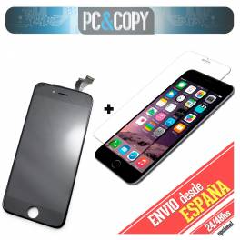 Pantalla completa LCD RETINA + Tactil iPhone 6 negro screen Calidad A+templado
