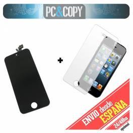 Pantalla completa LCD RETINA+Tactil+cristal templado para iPhone 5 5G NEGRO A++