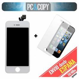 Pantalla completa LCD RETINA+Tactil+cristal templado para iPhone 5 5G blanca A++