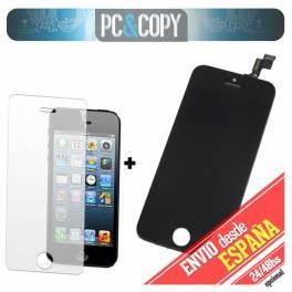 Pantalla completa LCD RETINA+Tactil+Cristal Templado para iPhone 5C NEGRO SCREEN