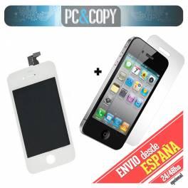 Pantalla LCD+Tactil completa para iPhone 4 blanca con Cristal Templado AAA+